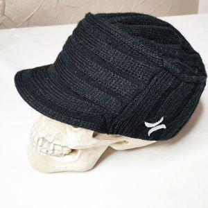 Hurley black billed beanie cap. Unisex. Small.